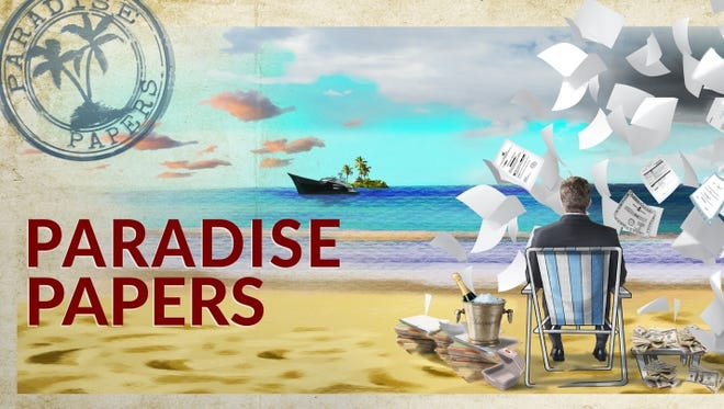 Logo for the Paradise Papers project.