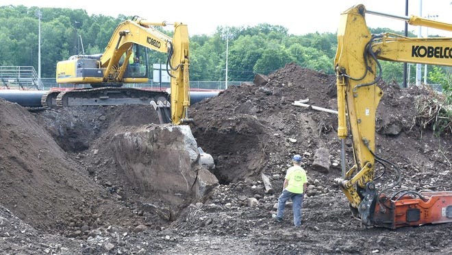 Work is underway on a bridge replacement and a stream restoration project in Ilion. The Richfield Street Bridge over Steele Creek will be replaced and sediment and a 13-foot dam in the creek are being removed to make the stream less prone to flooding.