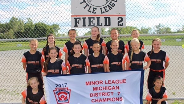 The Marine City 10-and-under softball team recently won a district championship.