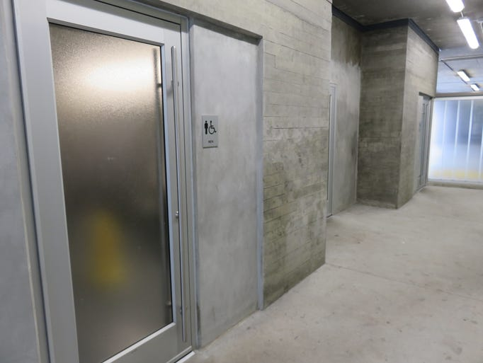 Recently opened restrooms in Market Square Garage have