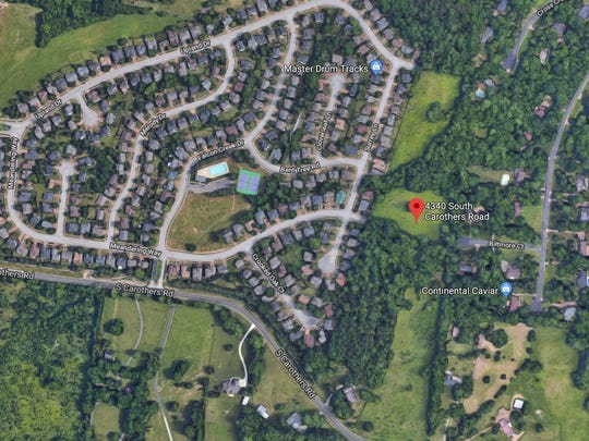 Forty-five homes are proposed off South Carothers Parkway.