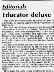 The Tuesday, April 24, 1981 editorial in the Reno Evening