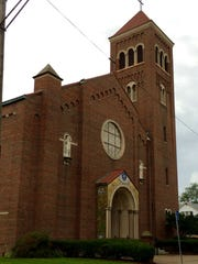 Transfiguration Catholic Church was founded in 1925 and this buildingwas built in 1949. The 17th Detroit Mass Mob gathers here at noon Sunday, Oct. 11, 2015.