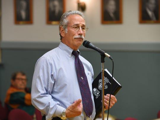 Saddle River resident Dean Cerf expresses his concerns