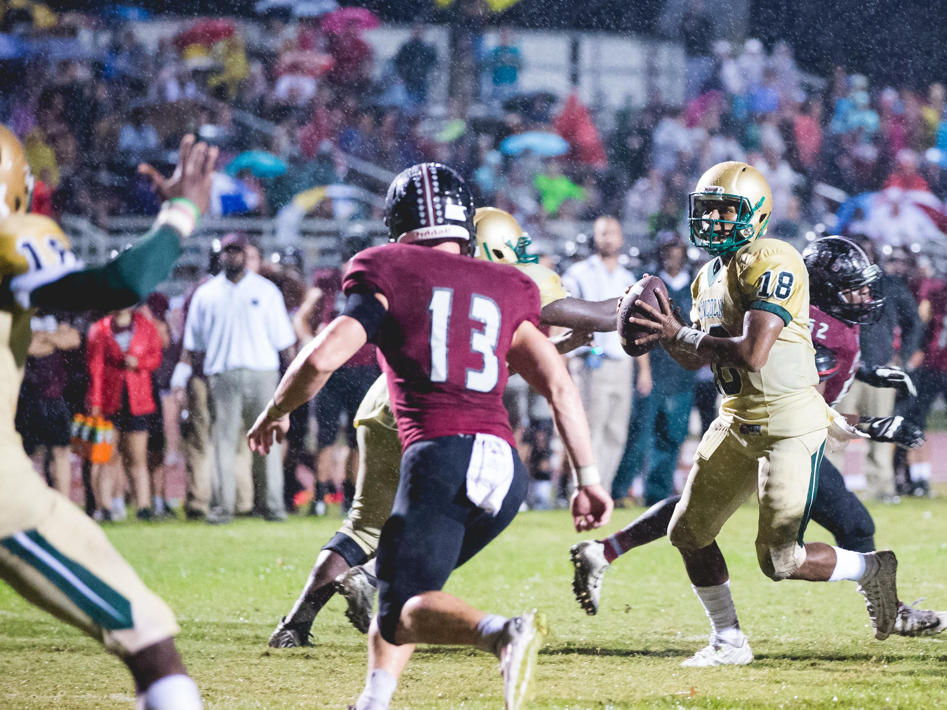 Lincoln quarterback Chris Brimm was masterful on a game-winning drive against Leon, while also leading the Trojans past Chiles and to a District 2-7A title during Monday's three-way tiebreaker.