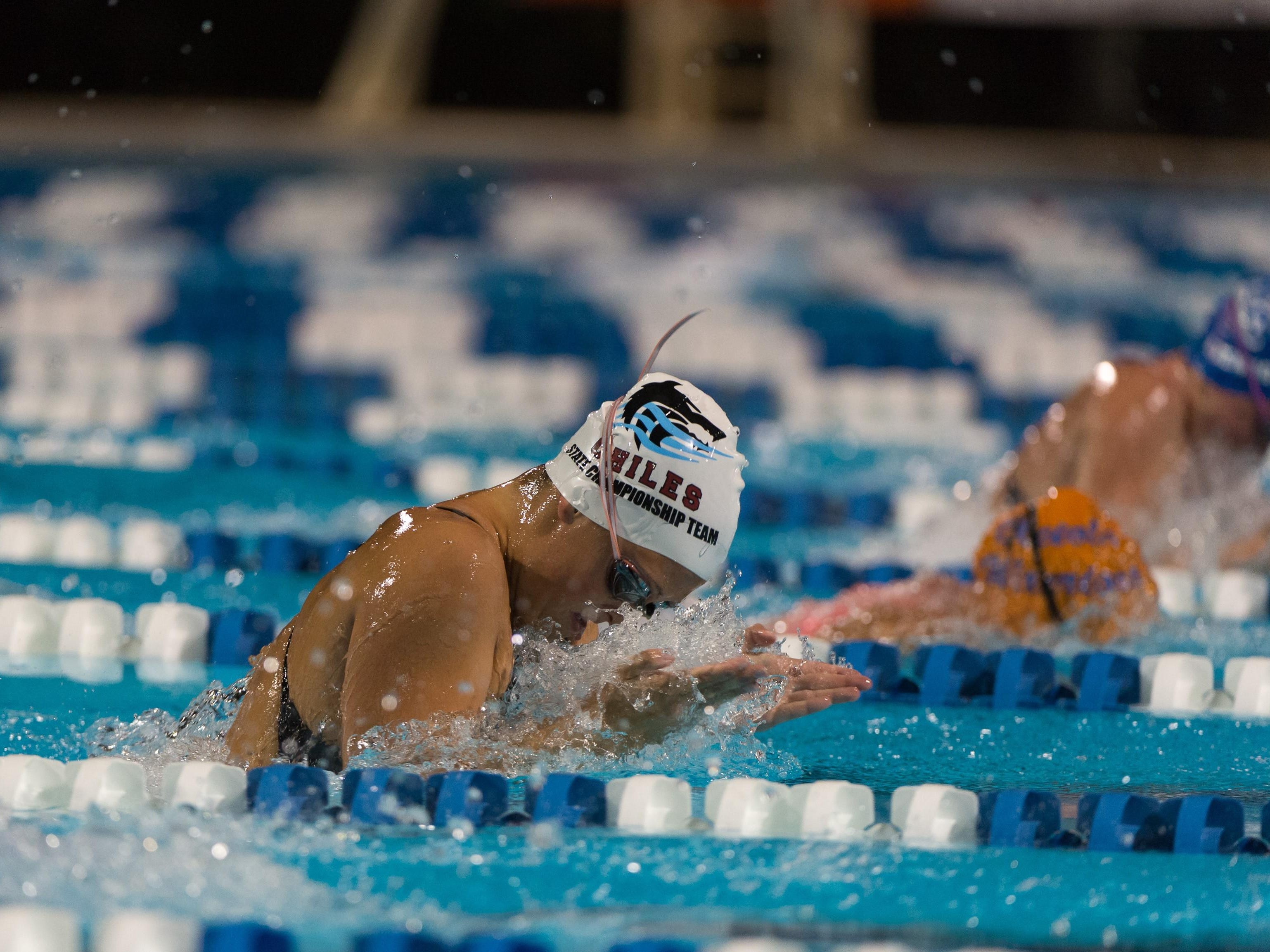 Chiles junior Morgan Ayers captured a state title Friday in Stuart in the 100-meter breast stroke with a winning time of 1:04.81.
