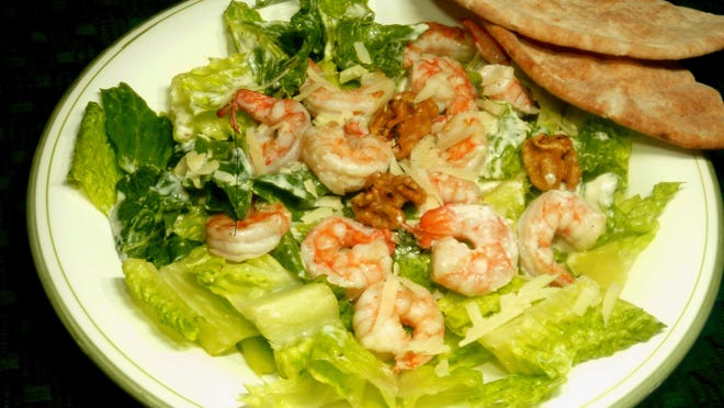 Grilled Shrimp Caesar Salad.