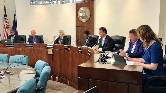 Leon County commissioners discuss their preliminary budget Tuesday for the 2019 fiscal year.