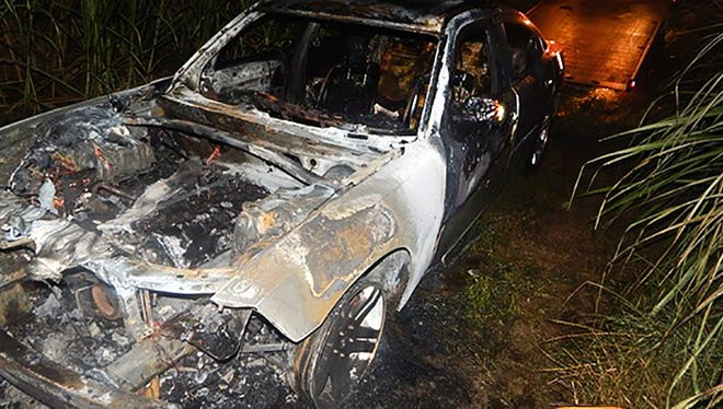 Vehicle stolen from Mississippi found burned in Louisiana.