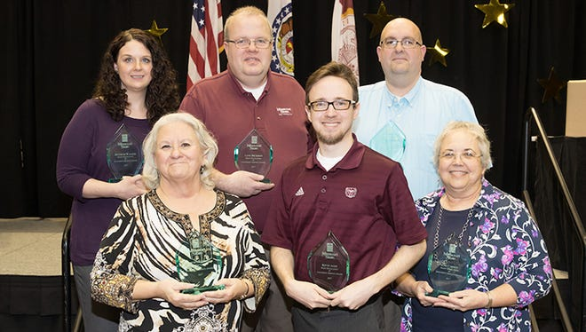 Missouri State University honored six employees with the Excellence in University Service Award.