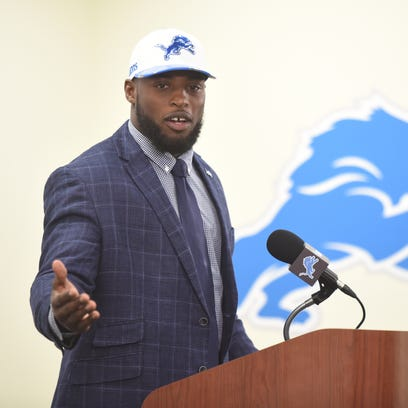 Jarrad Davis is introduced at a press conference on