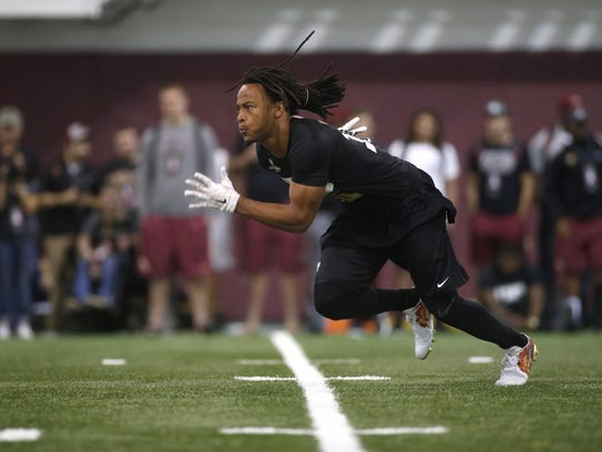 Javien Elliott ran a 4.41 40-yard dash at FSU's Pro
