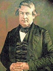 Millard Fillmore, served as lawyer for the Eben Ezer Society before becoming the 13th President of the United States. This photo was taken in 1849.