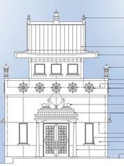 A rendering of Padmasambhava Buddhist Center of Tennessee's