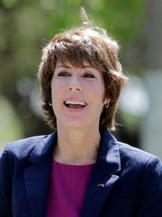Former Democratic U.S. Rep. Gwen Graham arrives at
