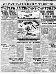 Front page of the Great Falls Daily Tribune on Monday, Nov. 12, 1917.