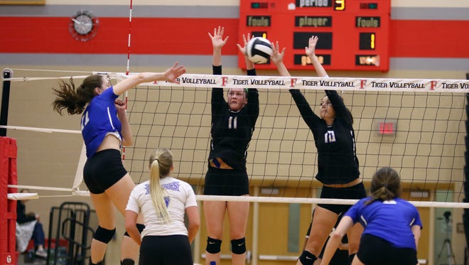 Carmel knocked off top-ranked Hamilton Southeastern in volleyball sectional semifinal action Saturday at Fishers High School, but fell to Westfield in the final.
