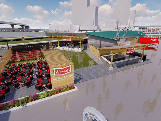 Renderings of the new Klement's Sausage and Beer Garden