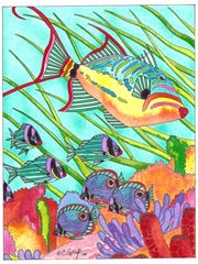 Florida artist Carroll Swayze will autograph her first coloring book Saturday at MacIntosh Books & Paper.
