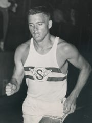 Rod Lambert during his days as a competitive sprinter in the early 1960s.