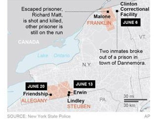 Map locates Malone, New York.