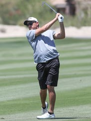 Former PGA Tour member Byron Smith of Cathedral City hits a shot while playing in the U.S. Open local qualifying tournament at Ironwood Country Club in Palm Desert Tuesday.