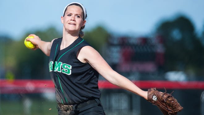 Freshman pitcher Maggie Cannon has been one of several newcomers to play a role in Parkside softball's success this season.