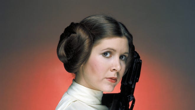 "Carrie Fisher in ""Star Wars."""