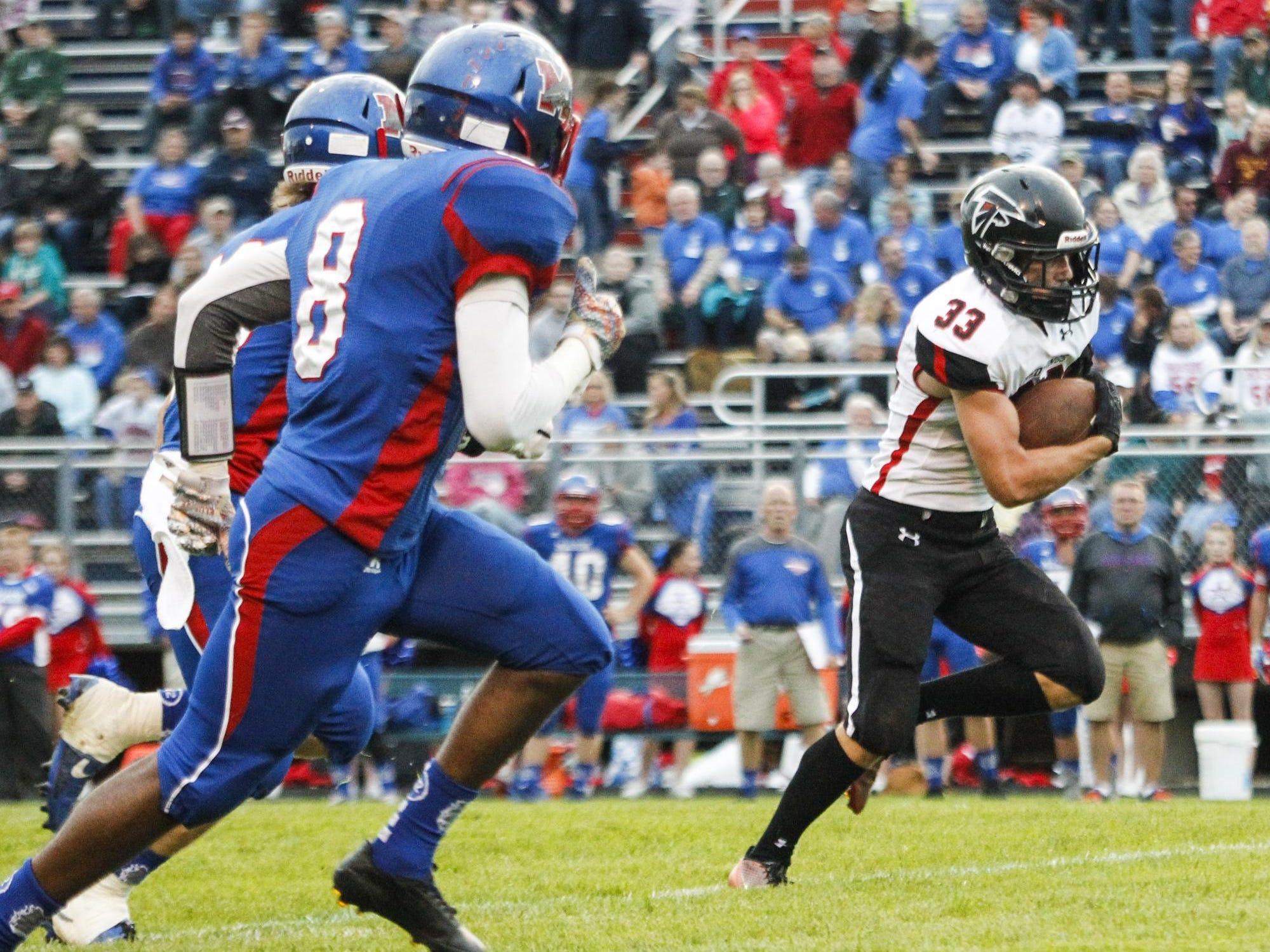 Blake Stewart, the LSJ prep athlete of the week, ran for 267 yards against Mason.
