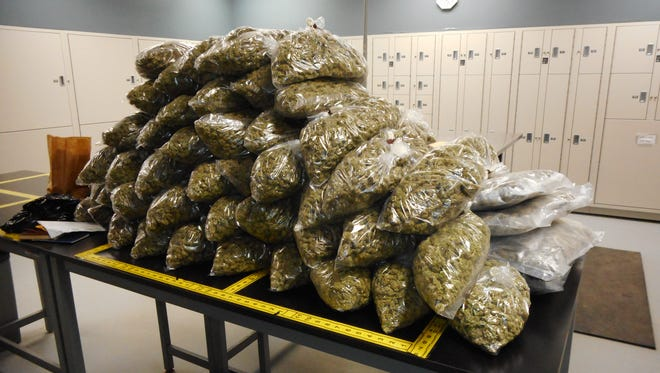 85  pounds of Marijuana discovered after traffic stop in Pennington County.