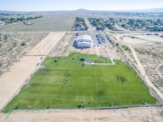 The new youth football field just west of the Kirtland Youth Association is pictured Sept. 17.