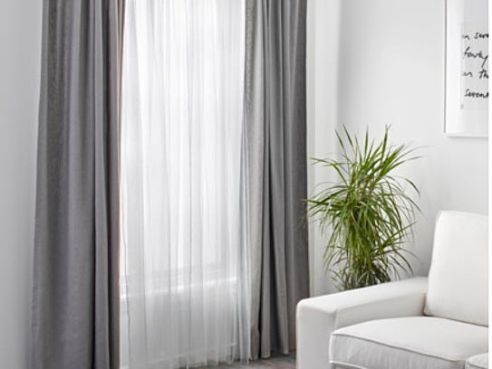 Ikea's Lill lace curtains offer some privacy while