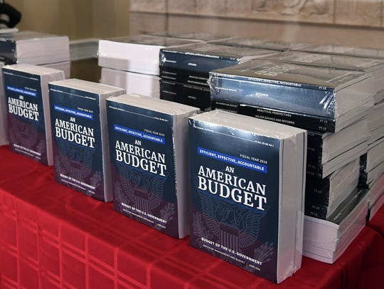 The president's FY19 Budget is on display after arriving