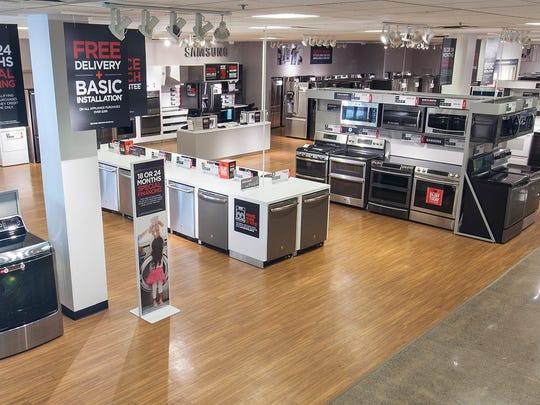 Appliances for sale at J.C. Penney.