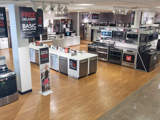 Appliances for sale at J.C. Penney.