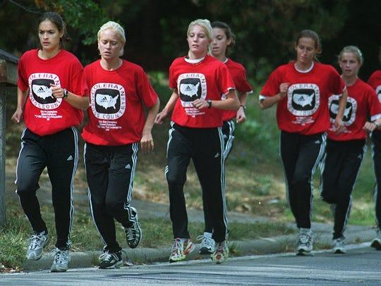 From left, Alison Zeinner, Catie Grebe, Kelly Crum,