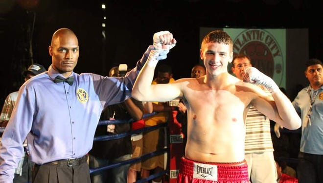 Millville's Thomas LaManna poses after his victory against Engelberto Valenzuela on July 22.