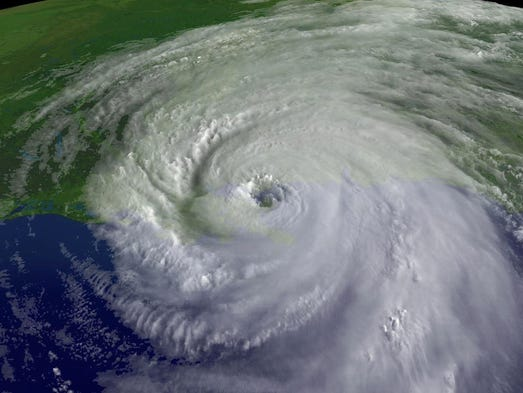 In this satellite image from NOAA, a close up of the