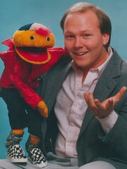 Andrew Holmes' dad, Andy, brought the puppet Gerbert