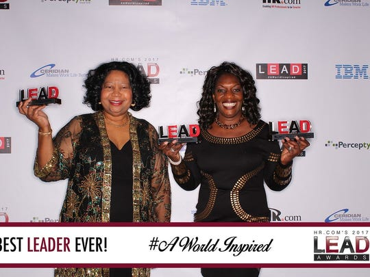 HR Director Ceretha Leon left, St. Lucie County Human Resources director and HR Manager Betty Jackson accepted three LEAD awards alongside awardees from Fortune 500 companies and major universities.
