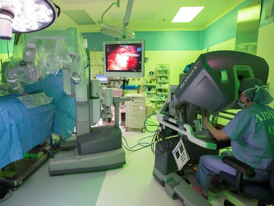 A doctor uses Surgio during a surgery at Nemours/A.I. duPont Hospital for Children in Rockland.