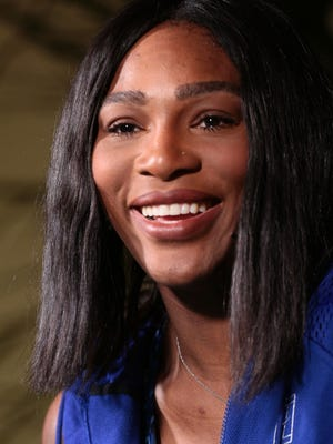 Serena Williams speaks at a press conference on Thursday, March 10, 2016 during the 4th day of the BNP Paribas Open in Indian Wells, CA.