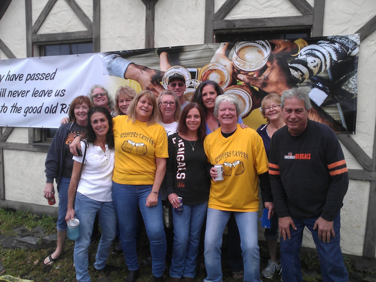 Former employees and supporters came by Riester's for