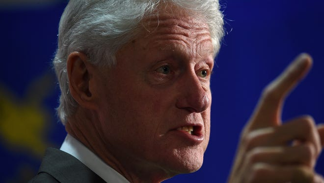 President Bill Clinton speaks during an organizing event for Democratic candidate for President Hillary Clinton at the Boys & Girls Club of Truckee Meadows in Reno on Jan. 22, 2016.