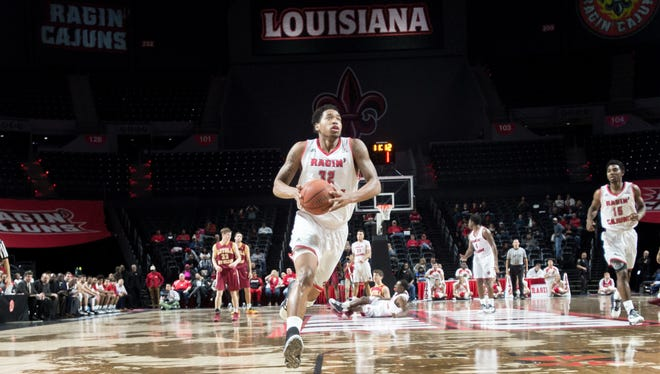 Bryce Washington, who has nine double-doubles this season, goes in for an easy layup in UL's recent win over Loyola of New Orleans.