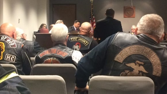 Bikers listen to the helmet-law in the House Transportation