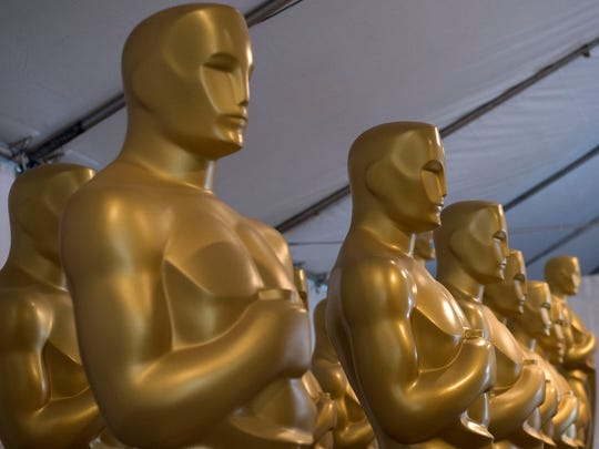Oscar statues are waiting to be cleaned and painted for the 89th annual Academy Awards earlier this week.
