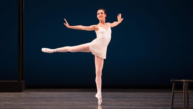 """Miami City Ballet principal dacer Tricia Albertson, seen here in George Balanchine's """"Apollo,"""" is one of 50 company dancers who will be working under a shortened contract in 2020-21."""