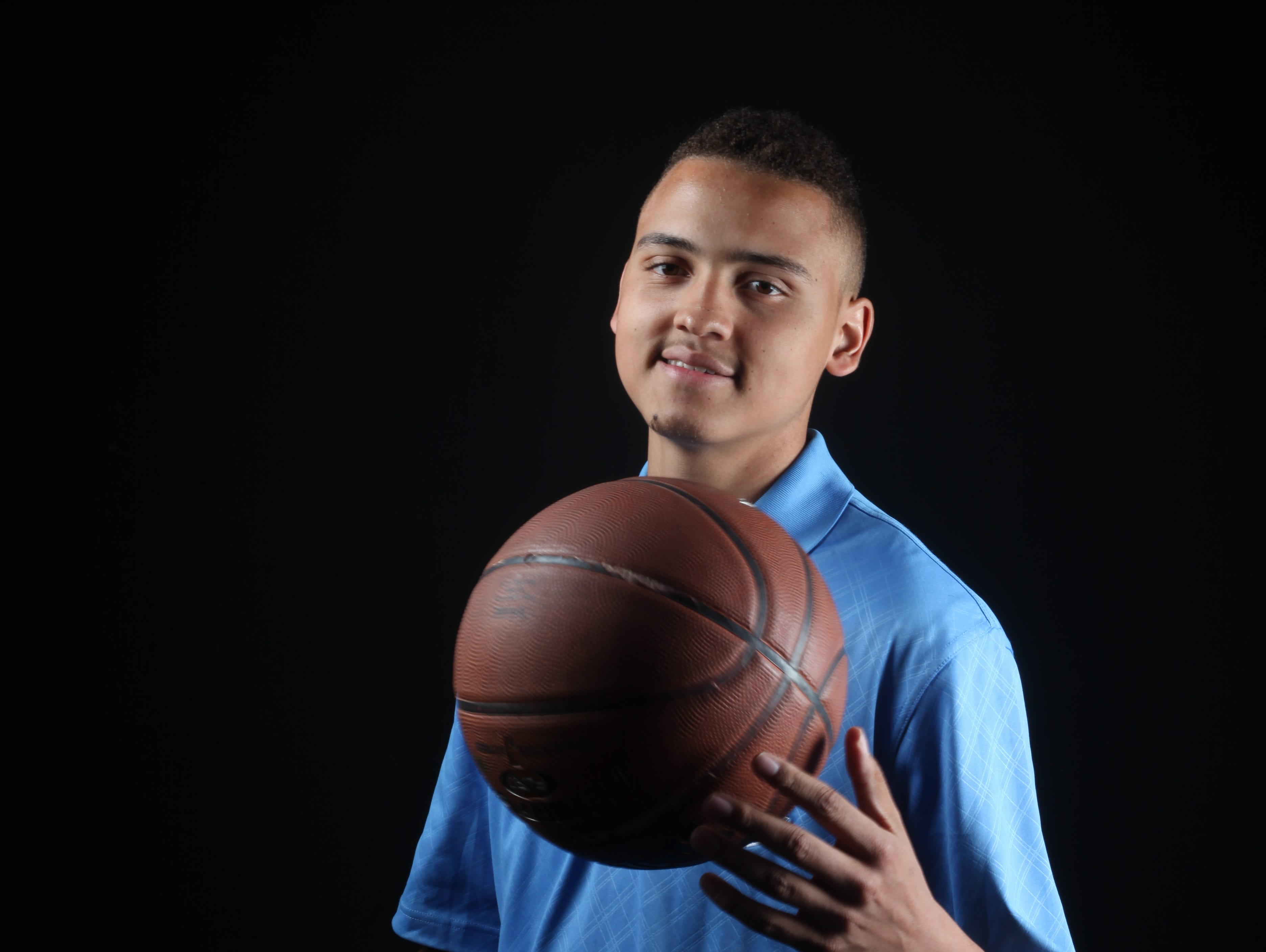 Charles Neal, Rancho Mirage High School basketball player photographed at the Desert Sun on April 1, 2016.