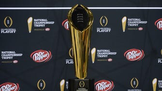 College Football Playoff championship trophy